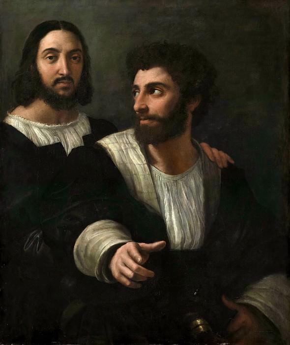 Рафаэль (Рафаэлло Санцио) (1483 Урбино - 1520 Рим) -- Автопортрет с другом. часть 4 Лувр