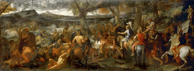 Charles Le Brun -- Alexander the Great and Porus. Part 4 Louvre