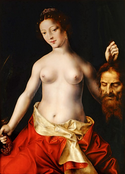 Jan Massys (ca. 1509-1575) -- Judith with the head of Holofernes. Part 4 Louvre