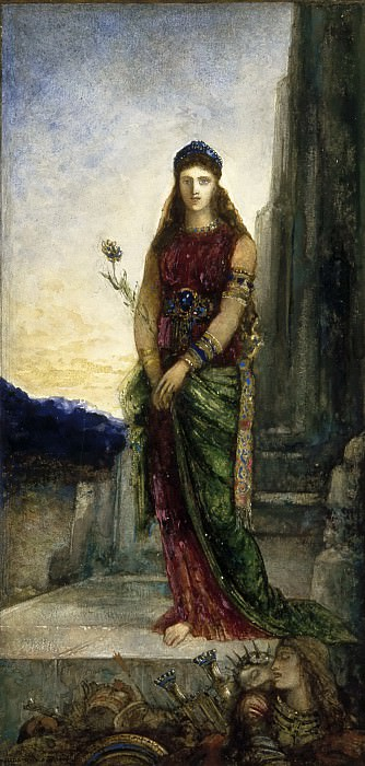 Gustave Moreau -- Helen on the Walls of Troy. Part 4 Louvre