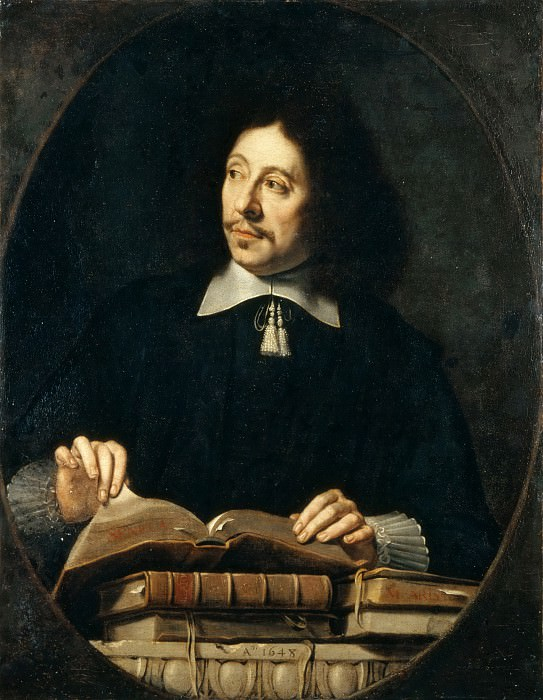 Attributed to Philippe de Champaigne -- Portrait of a Man, presumed to be Etienne Delafons. Part 4 Louvre