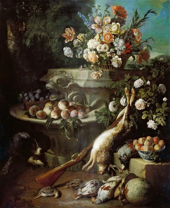 Alexandre-François Desportes -- Still Life with Game. Part 4 Louvre