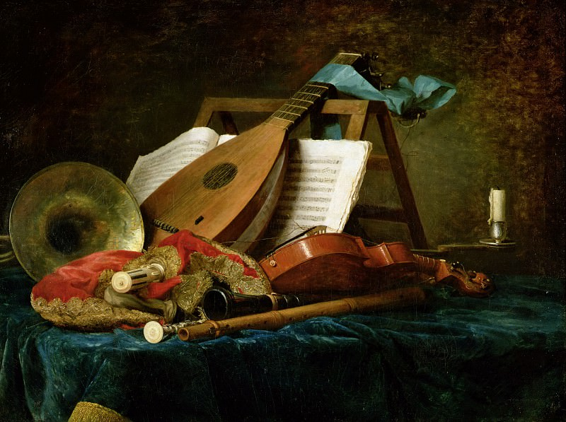 The Attributes of Music, 1770 (oil on canvas)Title: -- Vallayer-Coster, Anne (1744-1818)Primary creator:. Part 4 Louvre