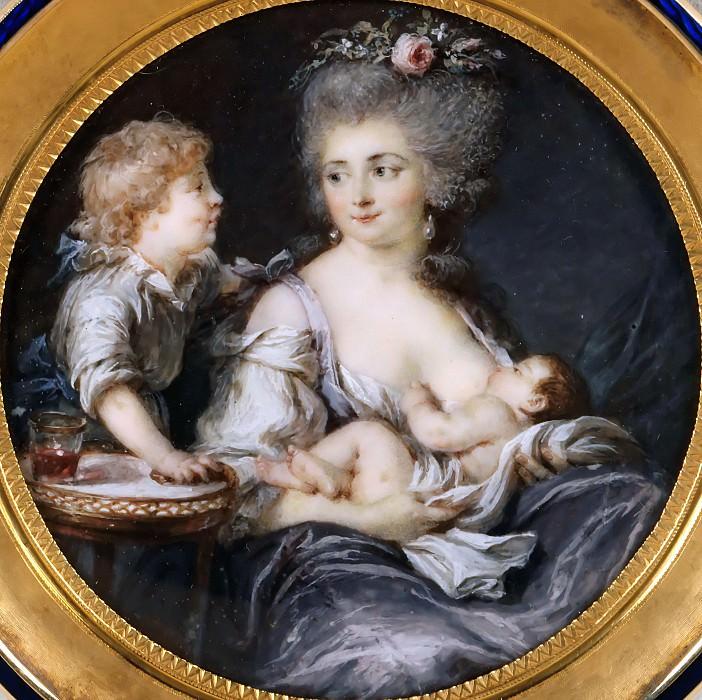 Лабий-Гийар, Аделаида (Париж 1749-1803) -- Мадам Митуар с ребенком. часть 4 Лувр