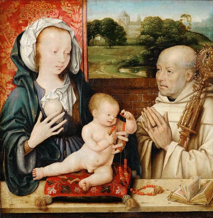 Joos van Cleve -- Virgin and Child with Saint Bernard, or The Lactation of Saint Bernard. Part 4 Louvre