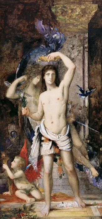 Gustave Moreau -- The Young Man and Death. Part 4 Louvre