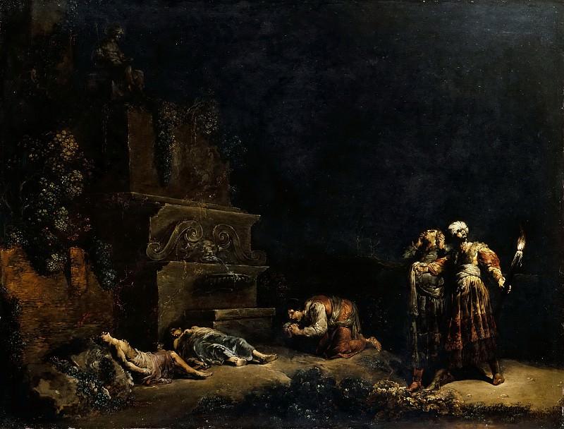 Брамер, Леонарт (Делфт 1596-1674) -- Нахождение тел Пирама и Фисбы. часть 4 Лувр