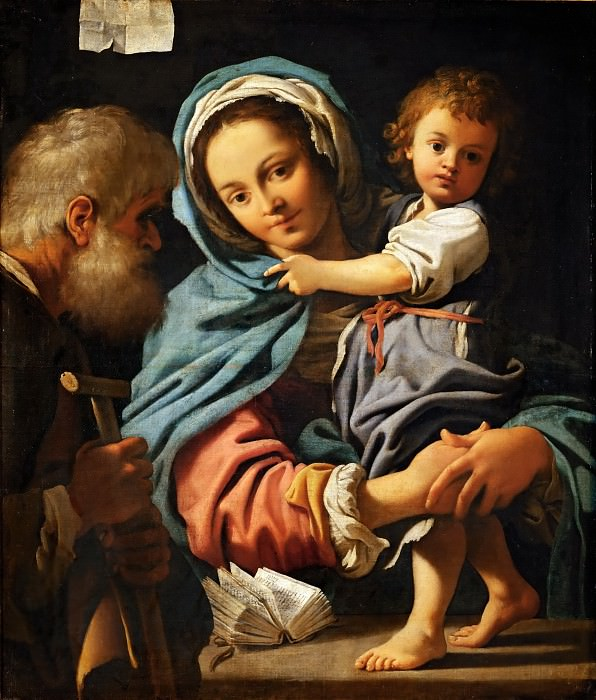 Bartolomeo Schedoni (c. 1578-1615) -- Holy Family. Part 4 Louvre
