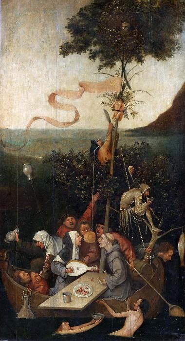Босх, Иероним (Хертогенбос c.1450-1516) -- Корабль дураков. Part 4 Louvre