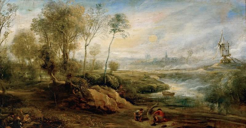 Peter Paul Rubens -- Landscape with Bird Catcher. Part 4 Louvre