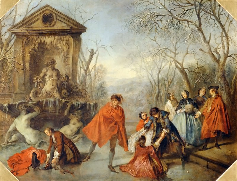 Nicolas Lancret (1690-1743) -- Winter. Part 4 Louvre