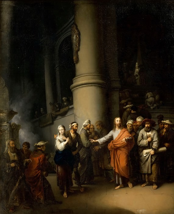 Christian Wilhelm Ernst Dietrich -- Christ and the adulterous woman. Part 4 Louvre