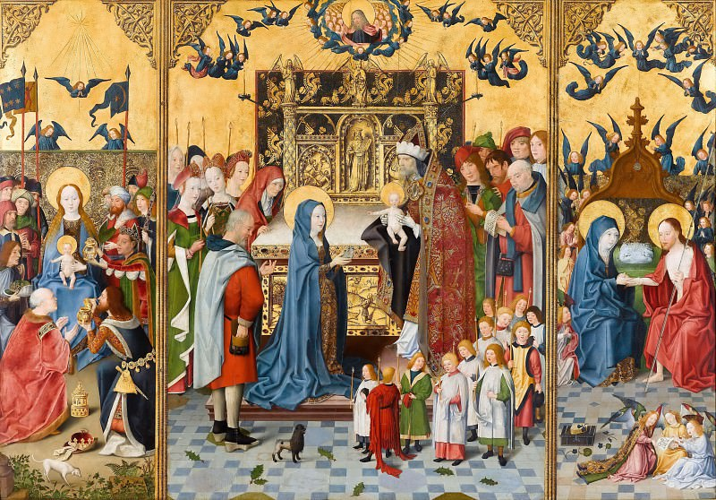 Master of the Holy Kinship the younger -- Retable of the Seven Joys of the Virgin. Part 4 Louvre