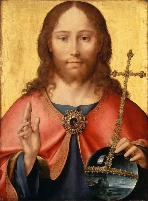 Joos van Cleve -- Christ as Savior of the World (Salvator mundi). Part 4 Louvre