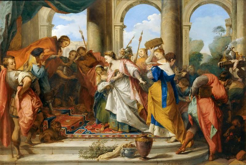 Nicolas Vleughels -- Solomon and the Queen of Sheba. Part 4 Louvre