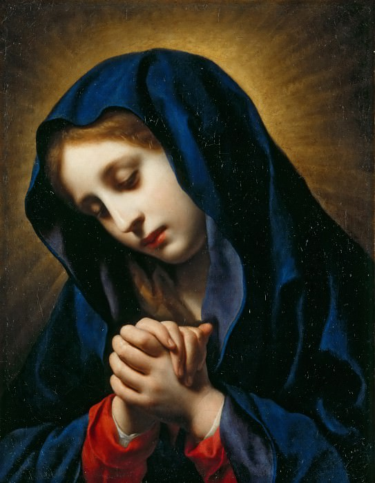 Carlo Dolci -- The Virgin of the Annunciation. Part 4 Louvre