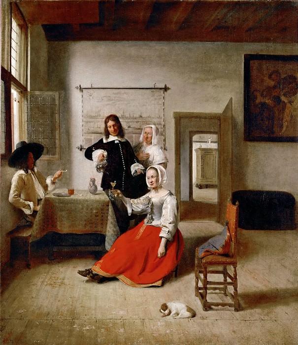 Pieter de Hooch (1629-1684) -- The Drinker. Part 4 Louvre