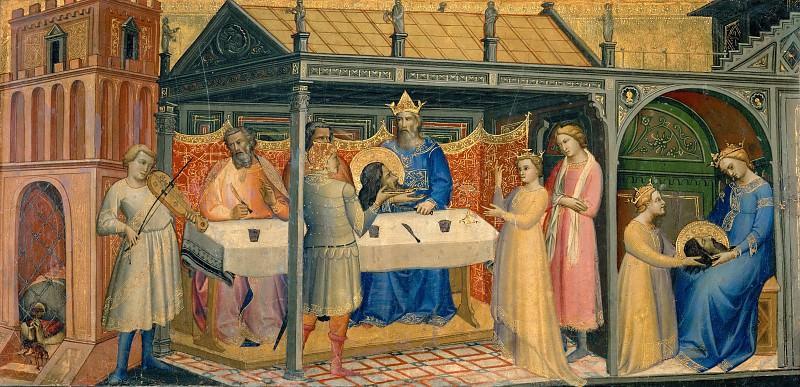 Лоренцо Монако (1365-70 Сиена - ок1425 Флоренция) -- Пир Ирода и Саломея с головой Иоанна Крестителя. часть 4 Лувр