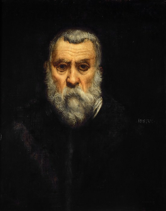 Jacopo Tintoretto -- Self Portrait in Old Age. Part 4 Louvre