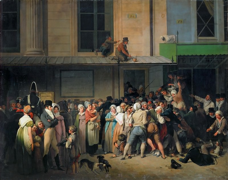 Louis Léopold Boilly (1761-1845) -- Entrance of the Theater of L'Ambigu-Comique Before a Free Performance. Part 4 Louvre