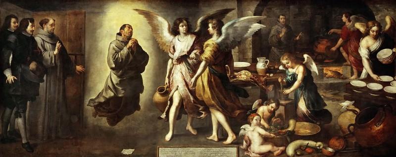 Bartolomé Estebán Murillo -- The Angels' Kitchen. Part 4 Louvre