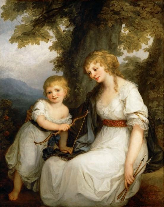 Кауфман, Ангелика (1741 Куре - 1807 Рим) -- Баронесса Юлиана фон Крюденер с сыном. часть 4 Лувр