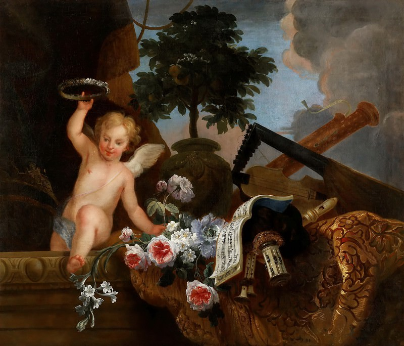 Florentin Damoiselet -- Cupid and flowers. Part 4 Louvre