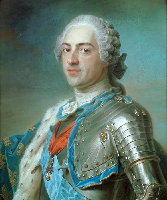 Maurice-Quentin de La Tour (1704-1788) -- Louis XV, King of France. Part 4 Louvre