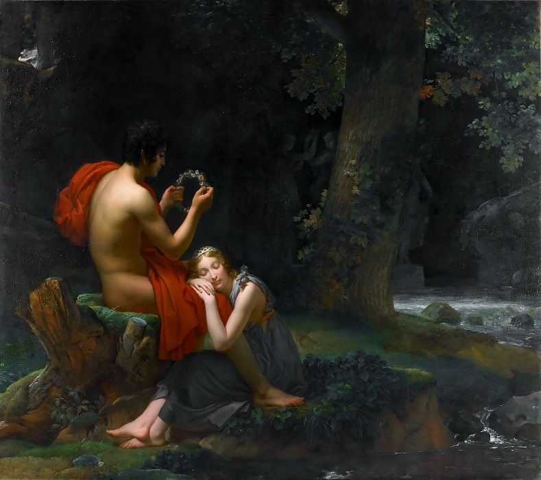 Baron François Gérard -- Daphnis and Chloe. Part 4 Louvre