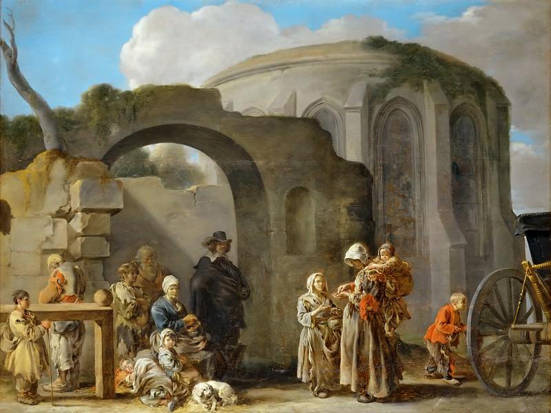 Sébastien Bourdon (1616-1671) -- The Beggars. Part 4 Louvre