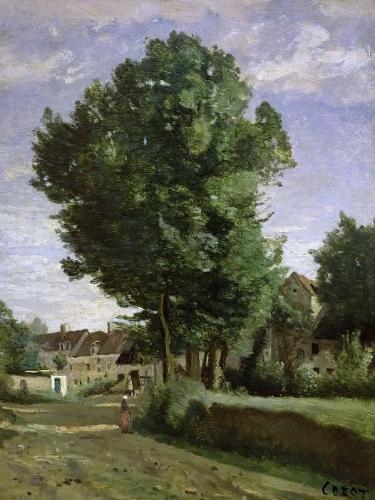 Коро, Жан-Батист-Камиль (Париж 1796-1875) -- Деревня в окрестностях Бове. часть 4 Лувр