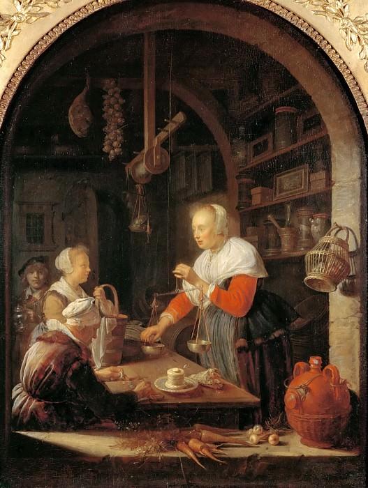 Доу, Геррит (Лейден 1613-1675) -- Магазин бакалейщицы. часть 4 Лувр
