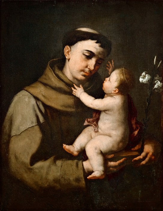 Luca Giordano -- Saint Anthony of Padua and the Infant Jesus. Part 4 Louvre
