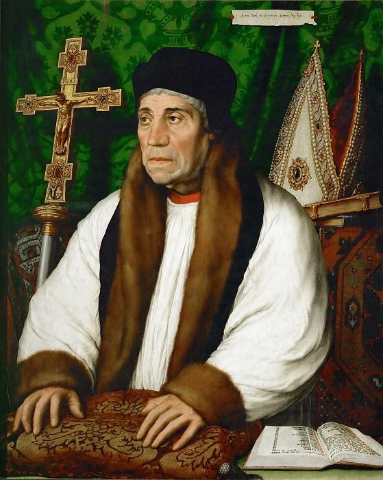 Гольбейн, Ганс II (1460-65 Аугсбург - 1524 Изенгейм) -- Портрет Уильяма Уорхема, архиепископа Кентерберийского. часть 4 Лувр