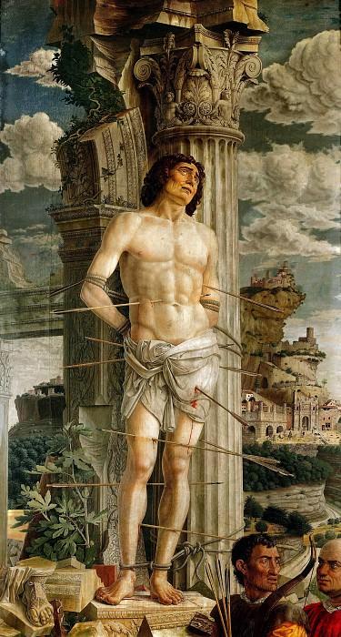 Andrea Mantegna -- Saint Sebastian. Part 4 Louvre