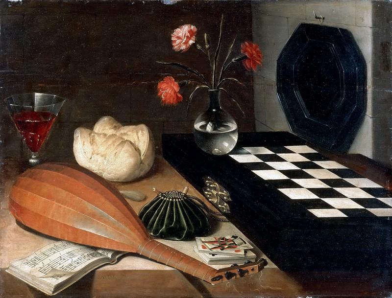 Lubin Baugin -- Still Life with Chessboard (Nature Morte à l'échiquier). Part 4 Louvre