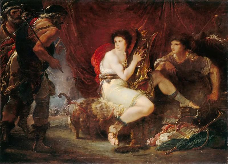 Кадес, Джузеппе (Рим 1750-1799) -- Одиссей и Нестор в шатре Ахиллеса и Патрокла. часть 4 Лувр