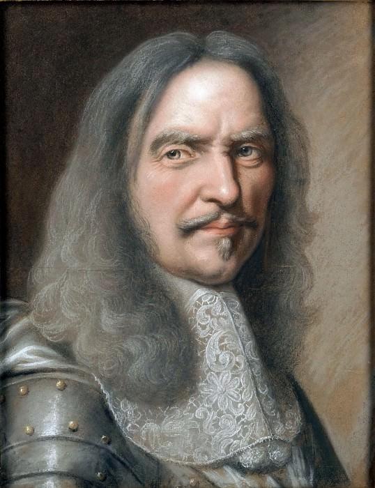 Robert Nanteuil -- Portrait of Turenne, bust-length, wearing a cuirasse. Part 4 Louvre