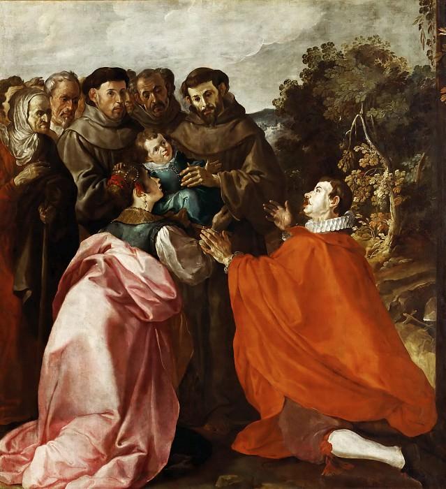 Francisco Herrera the Elder (c. 1576-1656) -- Saint Francis of Assisi Healing Saint Bonaventure as a Child. Part 4 Louvre