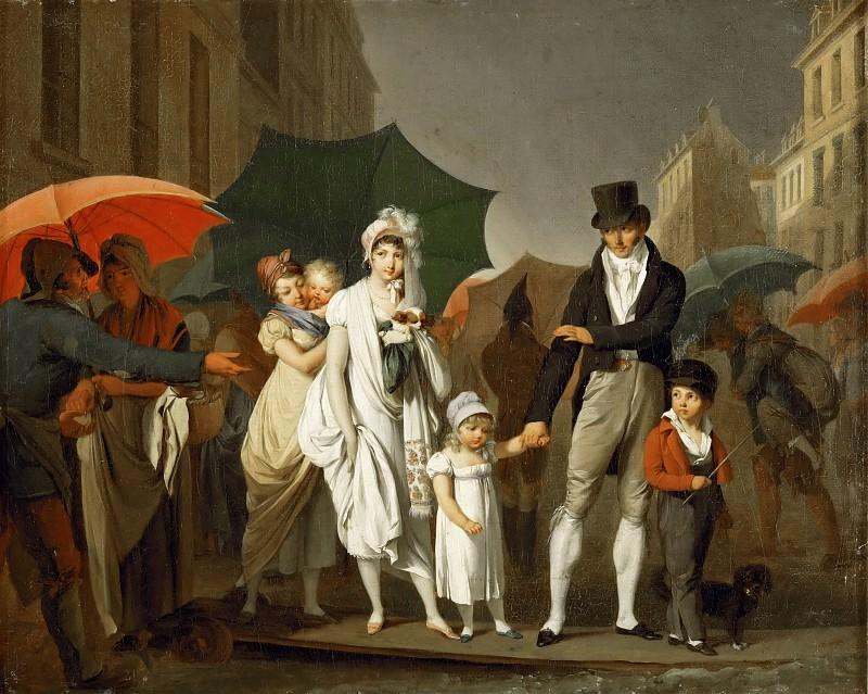 Louis Léopold Boilly (1761-1845) -- The Downpour. Part 4 Louvre