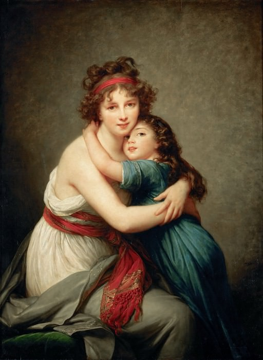 Self portrait with her daughter Julie. Élisabeth Louise Vigée Le Brun