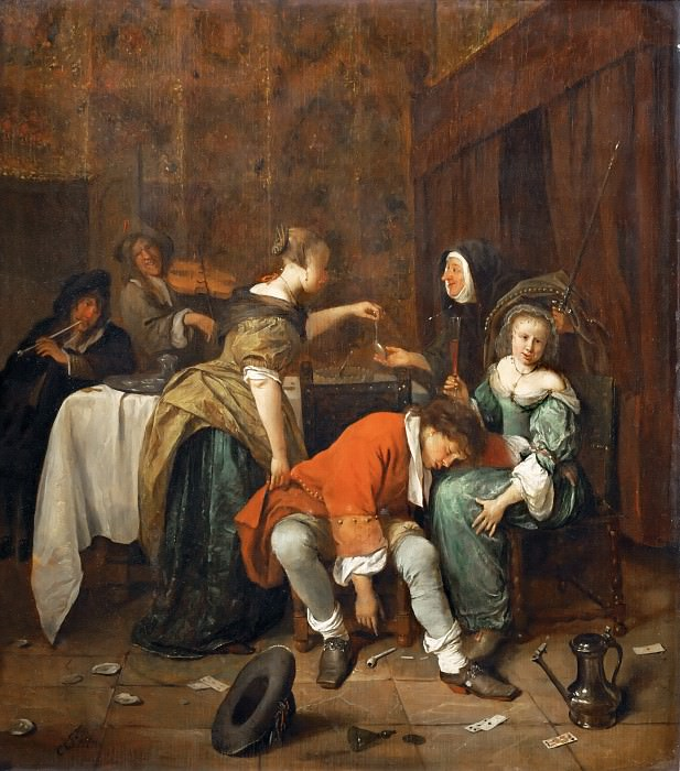 Jan Steen -- Wicked Company. Part 4 Louvre