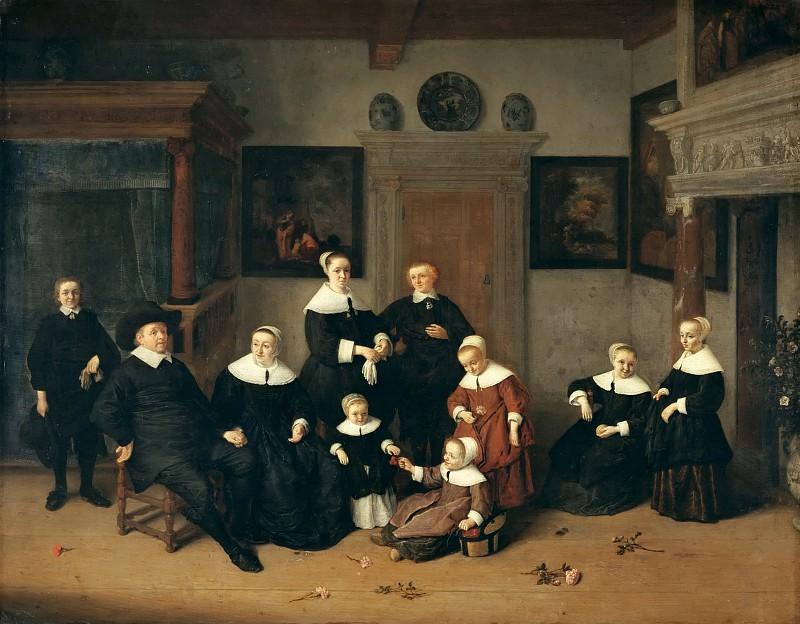 Остаде, Адриан Янс ван (Харлем 1610-1685) -- Семейный портрет. часть 4 Лувр