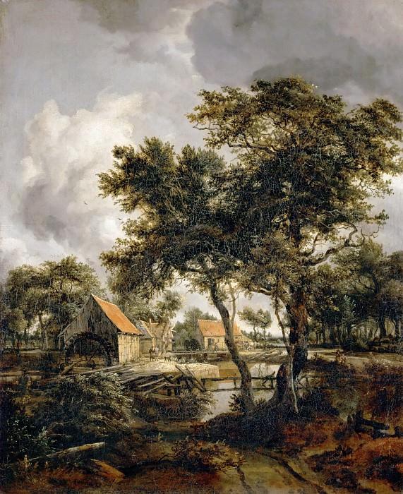 Meindert Hobbema (1638-1709) -- The Watermill. Part 4 Louvre