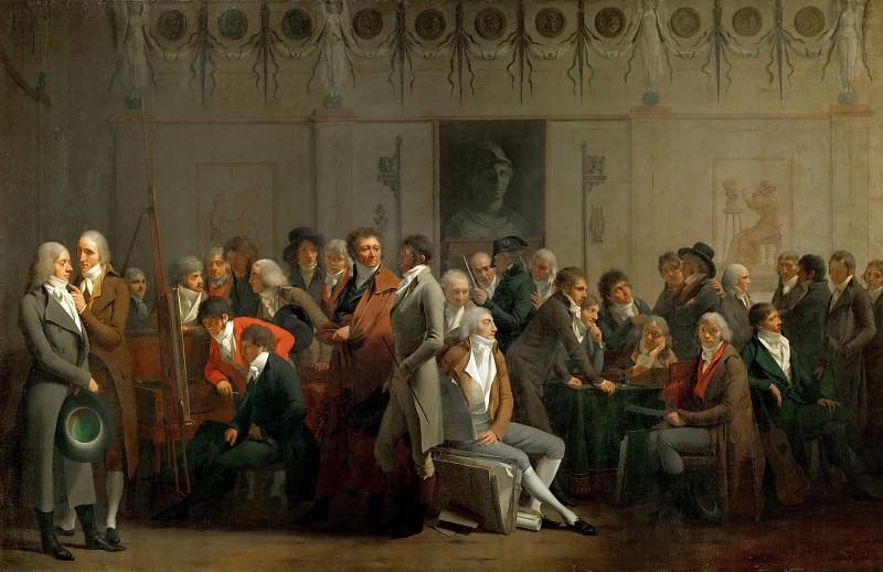 Буальи, Луи-Леопольд (1761 Ла Бассэ - 1845 Париж) -- Собрание художников в студии Изабэ. часть 4 Лувр