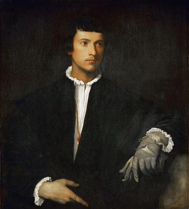 Man with Glove. Titian (Tiziano Vecellio)