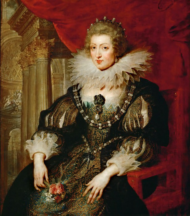 Portrait of Anne of Austria. Peter Paul Rubens