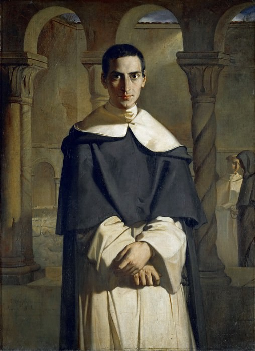 Théodore Chassériau -- Father Dominique Lacordaire of the Dominican Order. Part 4 Louvre