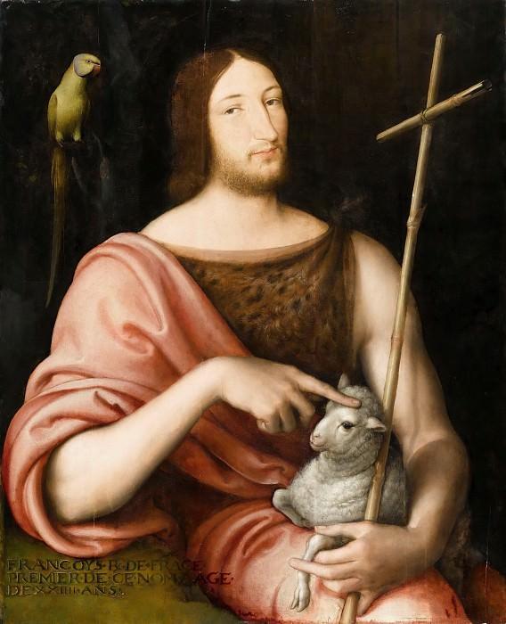 Jean Clouet -- Portrait of François Ier as St. John the Baptist. Part 4 Louvre