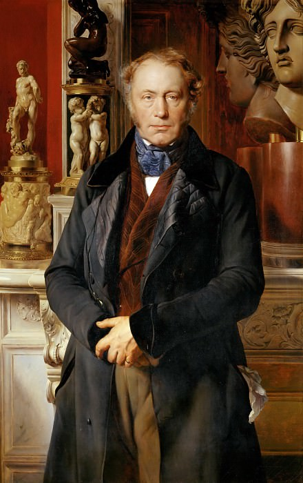 Paul Delaroche -- James Alexandre Comte de Pourtales-Gorgier. Part 4 Louvre